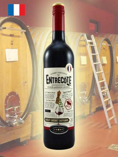 Vinho Tinto Merlot Cabernet Entrecote